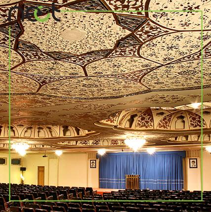 گچبری سنتی سقف سالن همایش