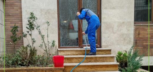 نظافت راه پله و ساختمان