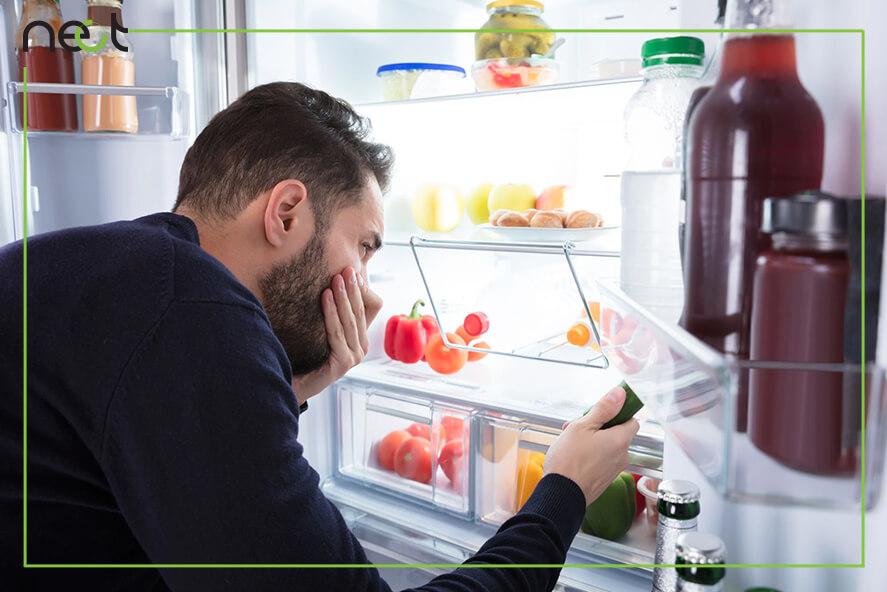 از بین بردن بوی بد یخچال