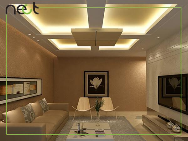 مدل سقف کاذب همراه نورپردازی