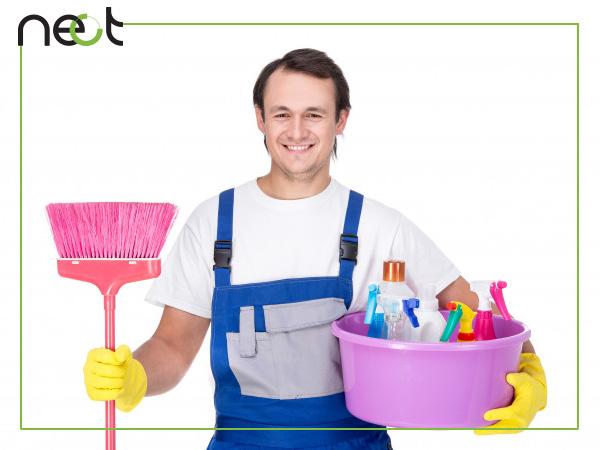 تاثیر نظافتچی ماهر در نظافت منزل