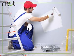 استفاده انواه رنگ از طرف نقاش ساختمانی