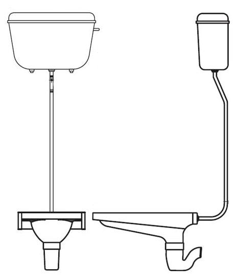 نصب سیفون توالت ایرانی