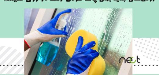 پاک کردن رنگ از روی شیشه
