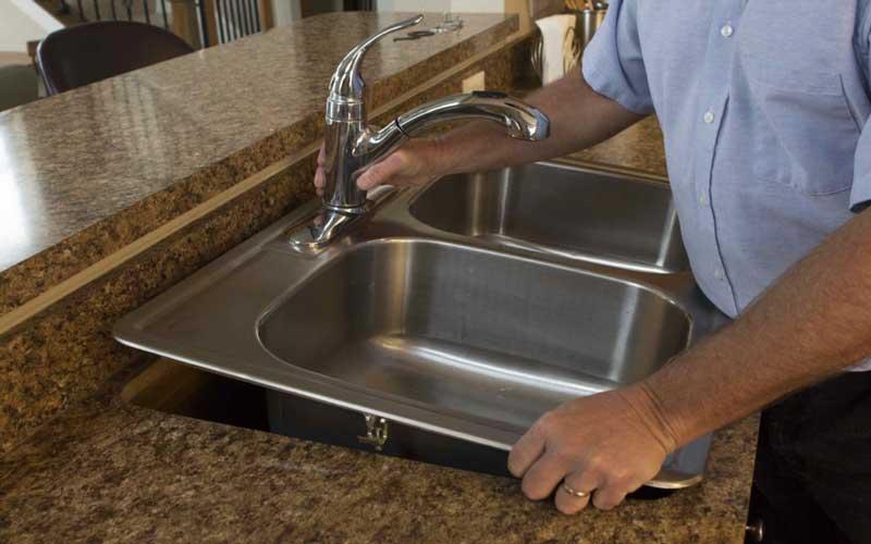آموزش نصب سینک ظرفشویی روکار
