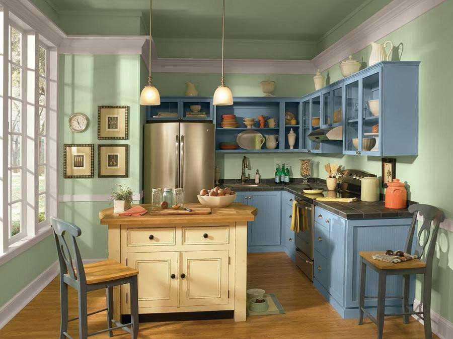 بهترین رنگ برای نقاشی سقف آشپزخانه
