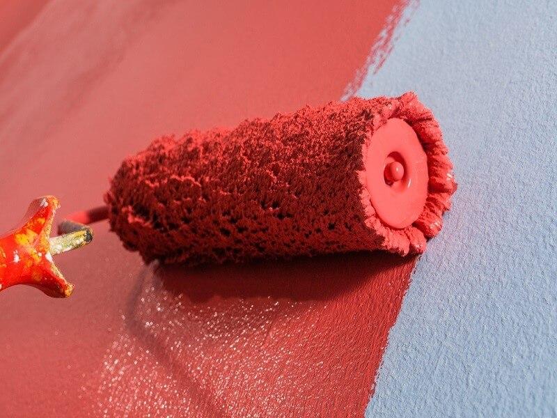 نقاشی ساختمان رنگ روغن براق