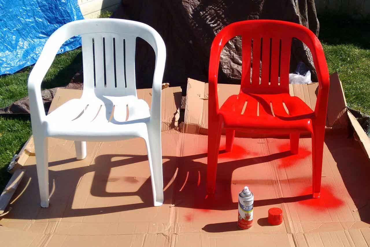 رنگ کردن صندلی پلاستیکی