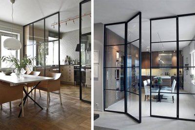 پارتیشن شیشه ای در خانه