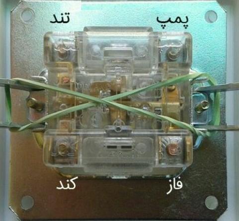 ساختار کلید کولر آبی