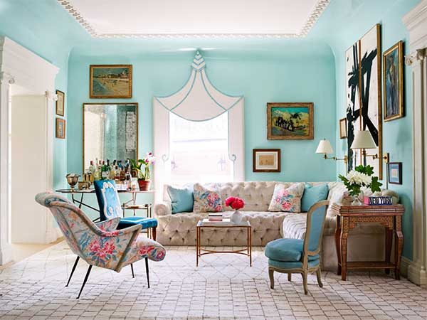 انتخاب رنگ مناسب برای اتاق نشیمن