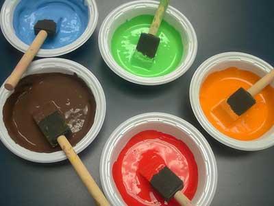 نسبت ترکیب رنگ اکریلیک با آب برای نقاشی ساختمان