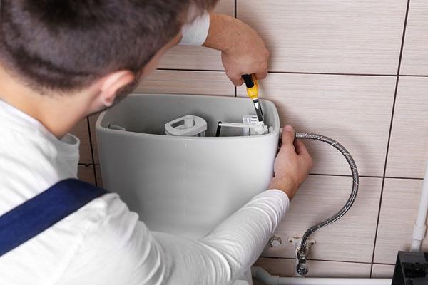 صدا دادن سیفون توالت فرنگی