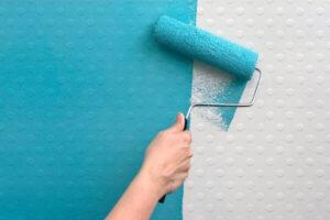 نقاشی روی کاغذ دیواری