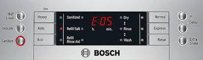 خطا E05 یا F05 ظرفشویی بوش
