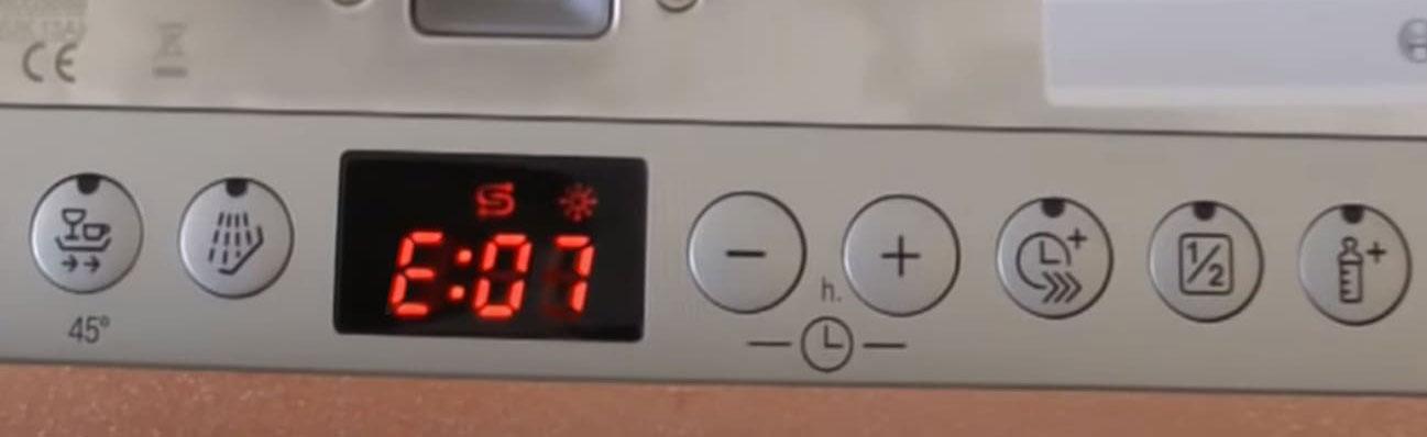 ارور E07 یا F07 ظرفشویی بوش