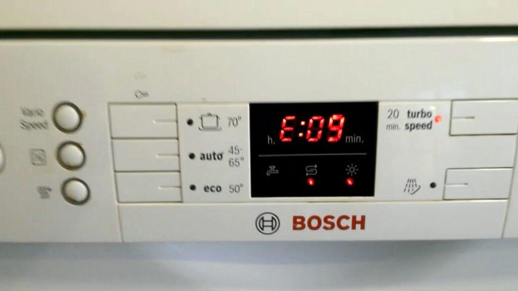 خطا E09 یا F09 ظرفشویی بوش