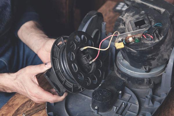 سوختن موتور جاروبرقی