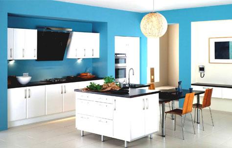 رنگ آبی انتخاب درستی برای آشپزخانه است؟