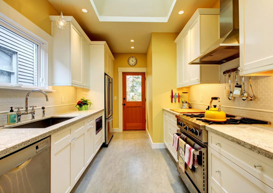 رنگ زرد برای دیوار آشپزخانه