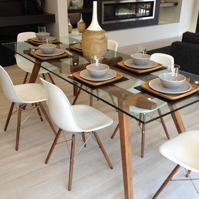 شیشه رومیزی برای میز ناهارخوری