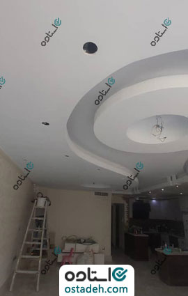 نمونه رنگ آمیزی سقف خانه