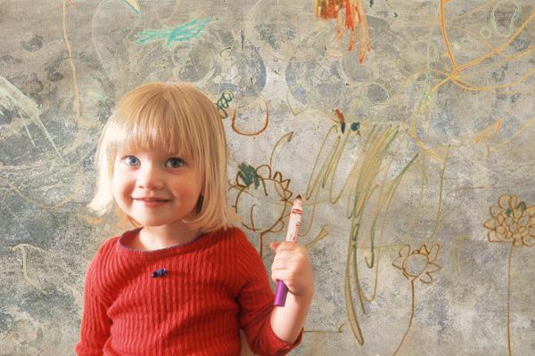 پاک کردن خودکار روی کاغذ دیواری